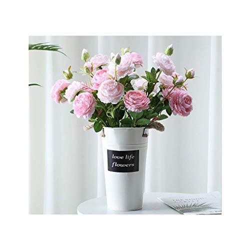 YGXR Decoración del hogar, Flores de peonía Artificiales, Flores de decoración de Flores Artificiales, Flores de Mesa Decorativas, Ramo de Rosas Artificiales (Color: D)