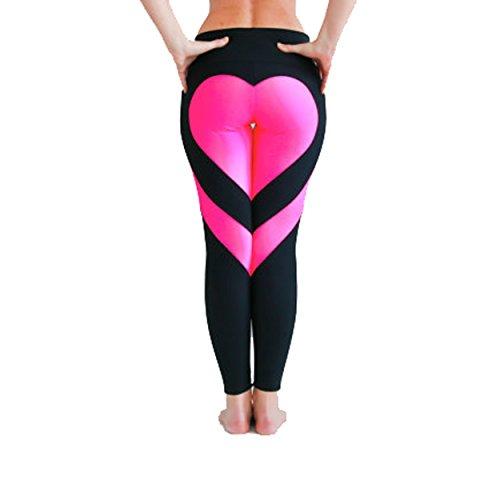 SSScok Leggings Hose Yogahose Damen Sport-Leggings Jogginghose Printed Herz Hüfthose Strumpfhose Leggins Hose Strumpfhose Schwarz Workout...