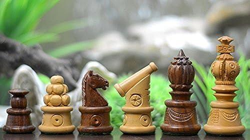 chessbazaar Castle Serie handgeschnitzten Cannon Schachfiguren in Sheesham und Box Holz