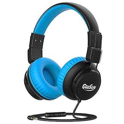 Kids Headphones, gorsun Headphones for kids,85dB/94dB Volume Limited, Childrens headphones with Mic, Audio Sharing Port, Adjustable toddler Headphones for School/Tablet/PC from Gorsun