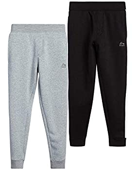 RBX Boys  Active Sweatpants – Basic Warm-Up Fleece Jogger Track Pants  2 Pack  Size 14-16 Midnight