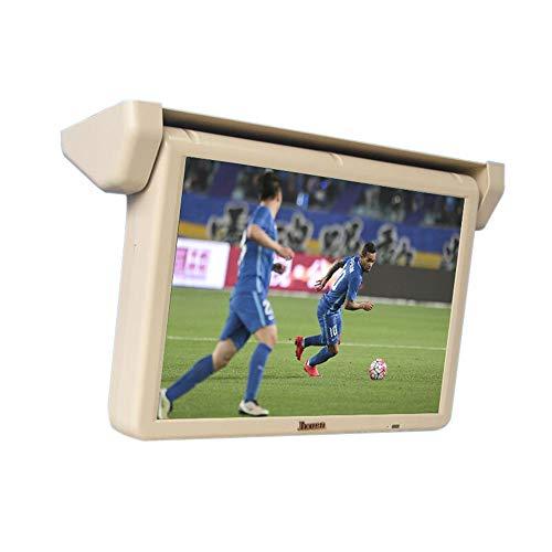 Monitor De Techo De Coche, Car Stereo Player MP5 con Pantalla Abatible, Overhead Car TV Pantallas, Relación de Pantalla LCD: 16: 9, remotamente, Memoria de ángulo, 17 Pulgadas (Grey)