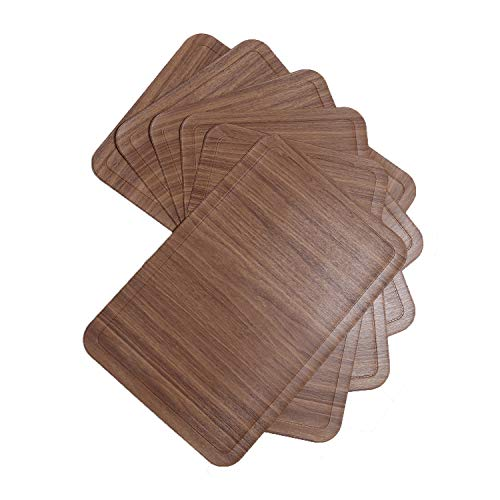 U'Artlines - Juego de 6 manteles Individuales de Piel sintética, reciclables, Impermeables, con Aislamiento térmico