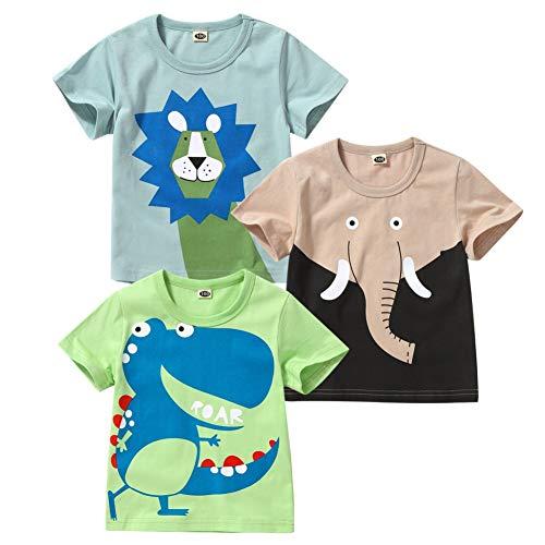 Miyanuby Bebé Niño Niña Camiseta De Béisbol Raglán con Gráfico De Manga Corta Tops Camisas Ropa De Verano Camisetas