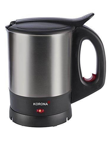 Korona 20140 Wasserkocher | Schwarz Edelstahl | 1.5 Liter | mit leistungsstarken 2200 Watt | klassisch kompakt
