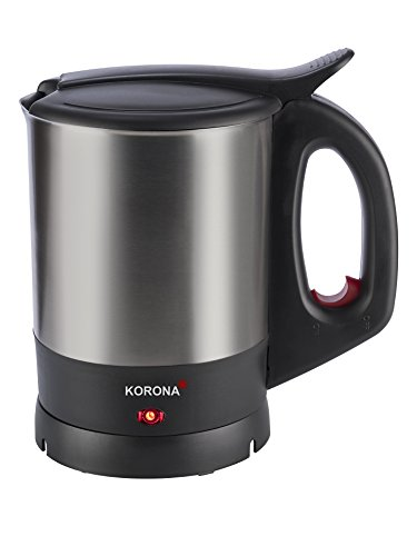 Korona 20140 Wasserkocher schwarz Edelstahl, 1.5 liters, mit leistungsstarken 2200 Watt, klassisch kompakt