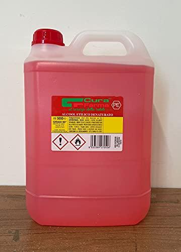 Alcool Etilico Denaturaturato 90% - 5 Lt - Cura Farma (Alcool Etilico Denaturaturato 90% - 5 Lt)