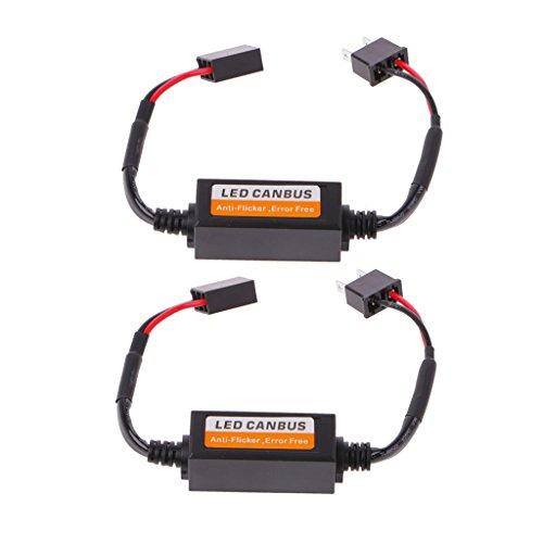 2 unidades de luces LED H7 para coche, Canbus, resistencia sin errores, luz de advertencia, anti parpadeo
