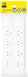 HPM R105TWIN Standard Overload 4 Outlet Powerboard Twin Pack - Powerboard - Standard 10A 2400W 4 outlets White Overload Pr...
