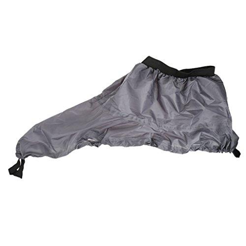 Universell Einstellbar Kajak Spritzdecke Spritzschutz Deck Abdeckung Grau