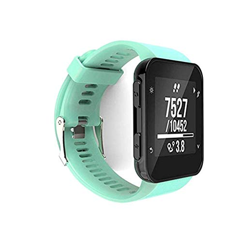 Silikon Armband+Ladegerät für Garmin Forerunner 35/30,Ersatzband Strap Verstellbares Weiches Silikon Ersatz Armbanduhr Armband Ersatzarmband Sport Strap Armbänder Atmungsaktive Wristband (Mintgrün)