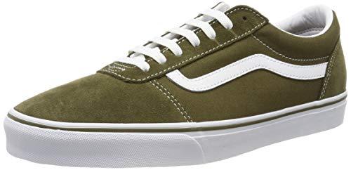 Vans Herren Ward Suede/Canvas Sneaker, Grün ((Suede/Canvas) Beech/White Uzh), 45 EU