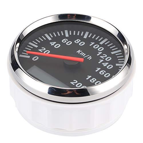 Velocímetro digital Velocímetro de pulso de acero inoxidable Medidor de velocidad impermeable Velocímetro del odómetro del coche(Negro)