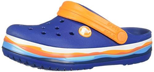 crocs Unisex-Kinder Crocband Wavy Band K Clogs, Blau (Blue Jeans 4gx), 28/29 EU