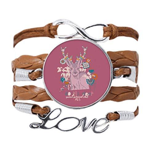 DIYthinker Reindeer Christmas Artistic Effect Colourful Bracelet Love Chain Rope Ornament Wristband Gift