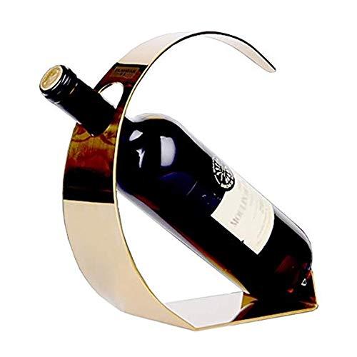 Metall-Tisch Weinflasche Weinregal Regal Display Steht Modernes Minimalistisches Interieur (Farbe: Gold)