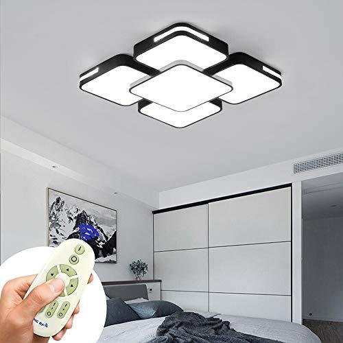 COOSNUG Luz de techo 64W LED Regulable lámpara de techo regulable de lámpara de sala de estar moderna luz de panel de cocina para dormitorio con control remoto