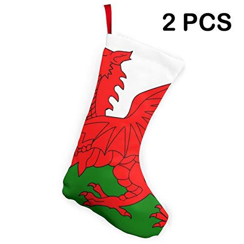 Welsh Dragon Flag 2019 Family Christmas Stockings Large...