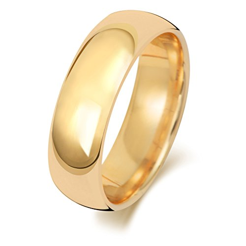Anello Fede Nuziale Uomo/Donna 6mm in Oro giallo 18k (750) WJS1887418KY