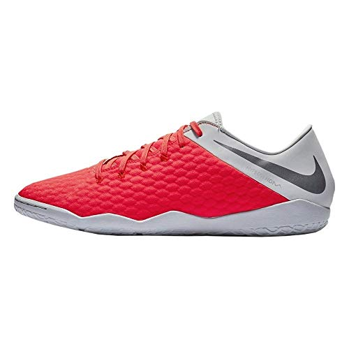 Nike Hypervenom 3 Academy IC, Zapatillas Unisex Adulto, Multicolor (Lt Crimson/Mtlc Dark Grey/Wolf Grey 001), 39 EU