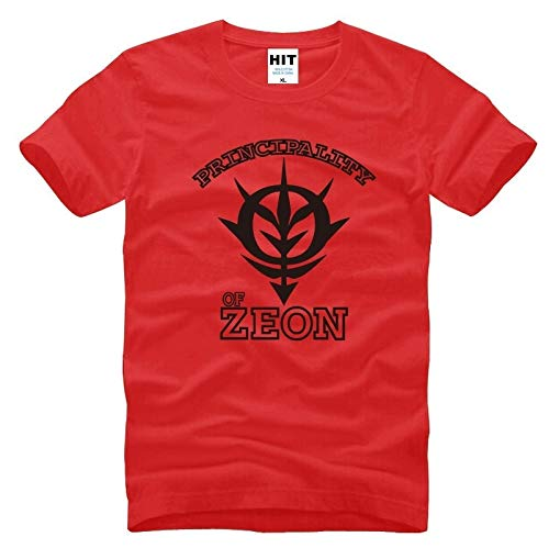Japanese Anime Gundam Principality of Zeon Mens Men T Shirt T-Shirt New Short Sleeve Cotton Tshirt Tee Camisetas Masculina