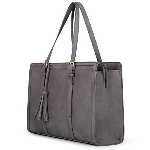 ECOSUSI Laptoptasche 15,6 Zoll Aktentasche Damen Groß Handtasche Business Arbeitstasche Shopper mit 3 Fächern für Büro Schule