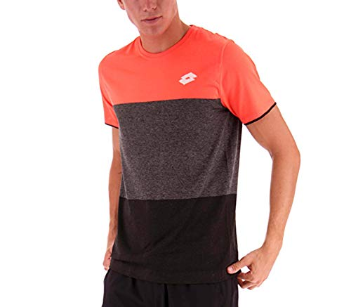 Lotto Herren, Tech SML T-Shirt Orange, Dunkelgrau, M Oberbekleidung, M