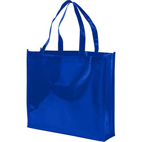 Bullet Shopper aus Vlies Laminat Shiny Royal Blu