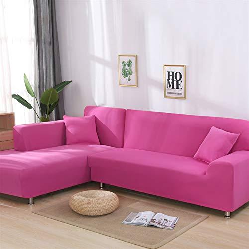 Fácil de instalar y cómodo cubierta de sofá. Cubierta de sofá, Cubiertas de sofá negro de esquina Conjunto de color sólido para sala de estar Elástico Spandex SlighCOVERS Funda de sofá Sofá Sofá Toall