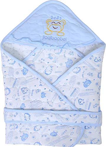 GURU KRIPA BABY PRODUCTS Presents New Born Baby Odddna Wrapper Cum Blanket Unisex Sleeping Bag Cum Nest Bag/Snuggle Pod Baby Wrap Swaddle Baby Blue