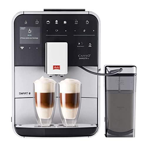 Melitta Barista TS Smart F85/0-101, Bean to Cup Coffee Machine, Bluetooth connectivity, Melitta Connect App, Whisper Grinder (Quiet Mark), Silver