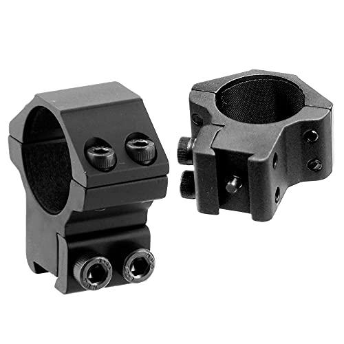 UTG 1'/2PCs Medium Profile Airgun Rings w/Stop Pin , Black