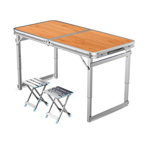 JIAX JIAX Klapptisch Outdoor Tragbare Heavy Duty Super Rechteckige Home Einfache Schreibtischhalterung Picknicktisch Camping/Barbecue Party/Party/Markt/Garten (Color : B)