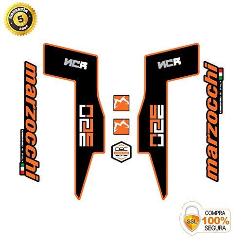 Autocollants fourche pour vélo modèle fourche Marzocchi 350 NCR orange 26