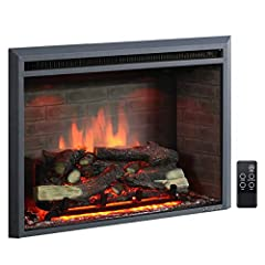 """Overall dimensions: Width: 31.89"""" x Height: 24.61"""" x Depth: 8.78"""". For more dimension details, please refer to """"User Manual"""" in """"Technical Specification"""" section. 3 flame settings with variable intensity and brightness can be used with or without hea..."""