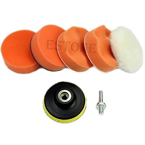High Gross 75mm 3' Polishing Buffing Pad Kit for Car Polisher Buffer New Power Tools Combo kit Clearance
