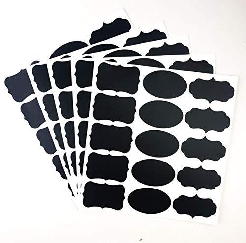wgkgh 150 Etiquetas de Pizarra Premium a Granel, Reutilizables e Impermeables Pegatinas de Pizarra para contenedores