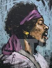 ArtToCanvas 11W x 14H inches : Jimi Hendrix Bandana by David Garibaldi - Paper Print ONLY