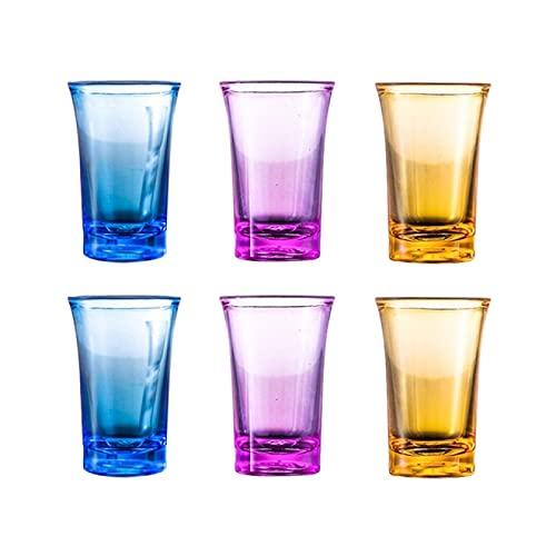 DZHTWSRYGR Copa de Vino Tinto Vaso de Licor de plástico Coloreado Vaso de Club de Barra audaz Vaso de Boda Copa de cóctel