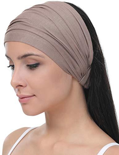 Deresina Elastisches dehnbares Stirnband, Haarband für Haarausfall (Mink)
