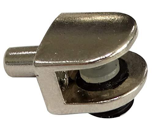 AERZETIX: 20x Portaestantes soporte para estante Ø5mm de cristal vidrio 2-6mm metálico C41752