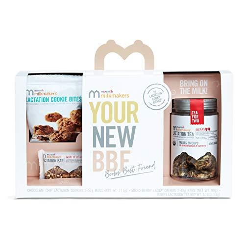 Munchkin Milkmakers Sampler Pack, Includes Lactation Cookies, Tea, & Bars, 6 Count