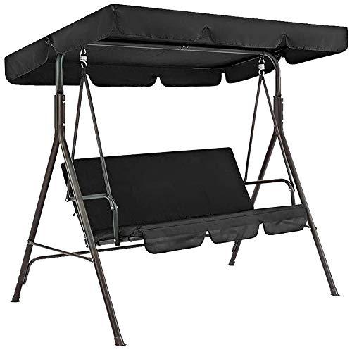 Varadyle Juego de 2 fundas para silla de jardín universal a prueba de polvo para 3 plazas, color negro