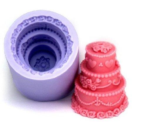 Allforhome 3-laags taart decoreren kaars schimmel siliconen zeep vorm kaars vorm DIY kaars maken schimmel