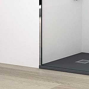 75 Mampara Ducha FIJA Frontal 1 Fijo ANTICAL INCLUIDO panel ducha fijo cristal templado EstiloBa/ño/© NEW YORK- TRANSPARENTE 8 mm 90 80 110,120 100 cm 100 intervalo 107-109 Disponible 70