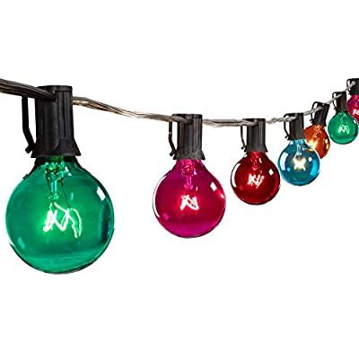 Globe String Lights with Clear Bulbs,Backyard Patio Lights,Hanging Indoor/Outdoor String Lights for Bistro Pergola Deckyard Tents Market Decor ...
