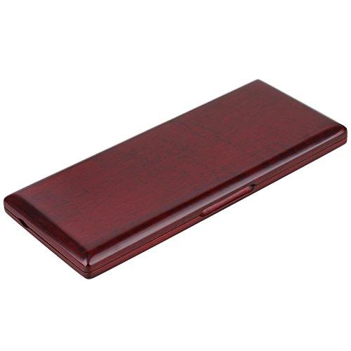10 Stück Klarinette Reed Case Lagerung von Holzschilf Reed Aufbewahrungs Koffer Rot