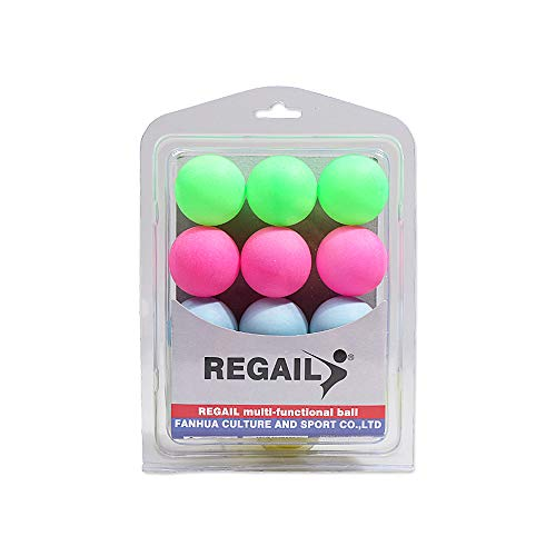 Buy Bargain WooDlan 12pcs Colorful Table Tennis Balls Table Tennis Decor Balls Multi-Functional Table Tennis Ball Lucky Draw Entertainment Equipment