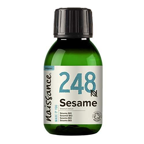 Naissance Aceite Vegetal de Sésamo BIO 100ml - 100% puro, prensado en frío, certificado ecológico, vegano y no OGM …