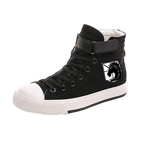 HJkjlmlFG Attack on Titan Schuhe Trainer-Schuhe Breathable Bequeme Schuhe leichten Druck Hoch-Spitze Schuhe Unisex (Color : A19, Size : EU37 US6)